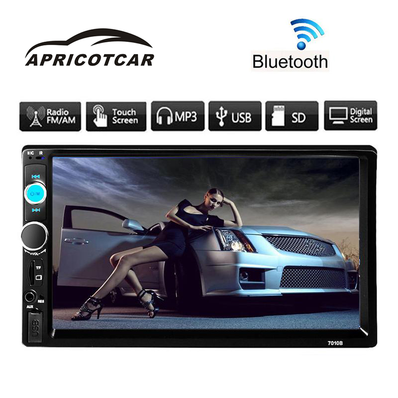 7''HD Bluetooth Touch Screen Car MP5 Hands-free Calls Stereo Radio 2DIN FM / MP3 / AUX Player Phone USB Charger + Remote Control steering wheel control car radio mp5 player fm usb tf 1 din remote control 12v stereo 7 inch car radio aux touch screen