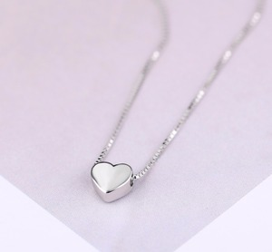 New Arrivals 925 Sterling Silver Love Heart Necklaces for Women Wedding Jewelry Long Necklaces Statement Jewelry(China)