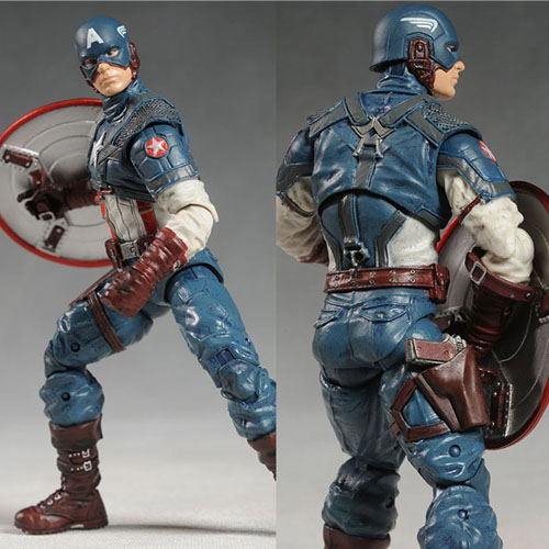 Marvel Super Hero the Avengers Captain America Figure PVC Model Collectible Toy 8 20cm the falcon marvel super hero sam wilson figure the avengers captain america building blocks sets model bricks toys for children