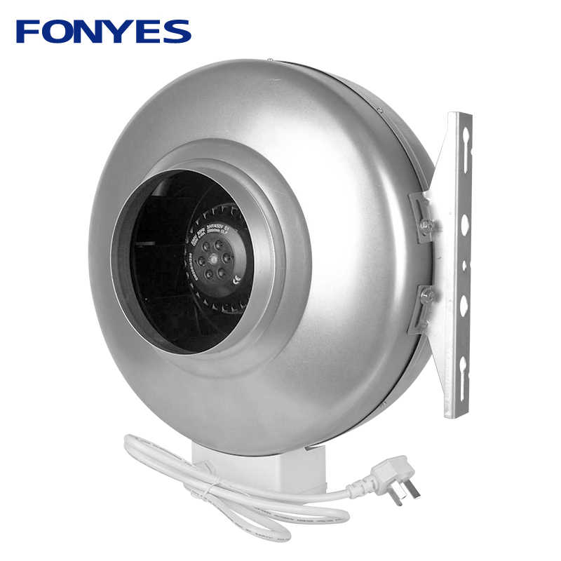 "4 ""Metal Circular Menyalurkan Kipas Inline Duct Fan Dapur Extractor Sistem Ventilasi Exhaust Fan Centrifugal Blower 100 Mm 220V"