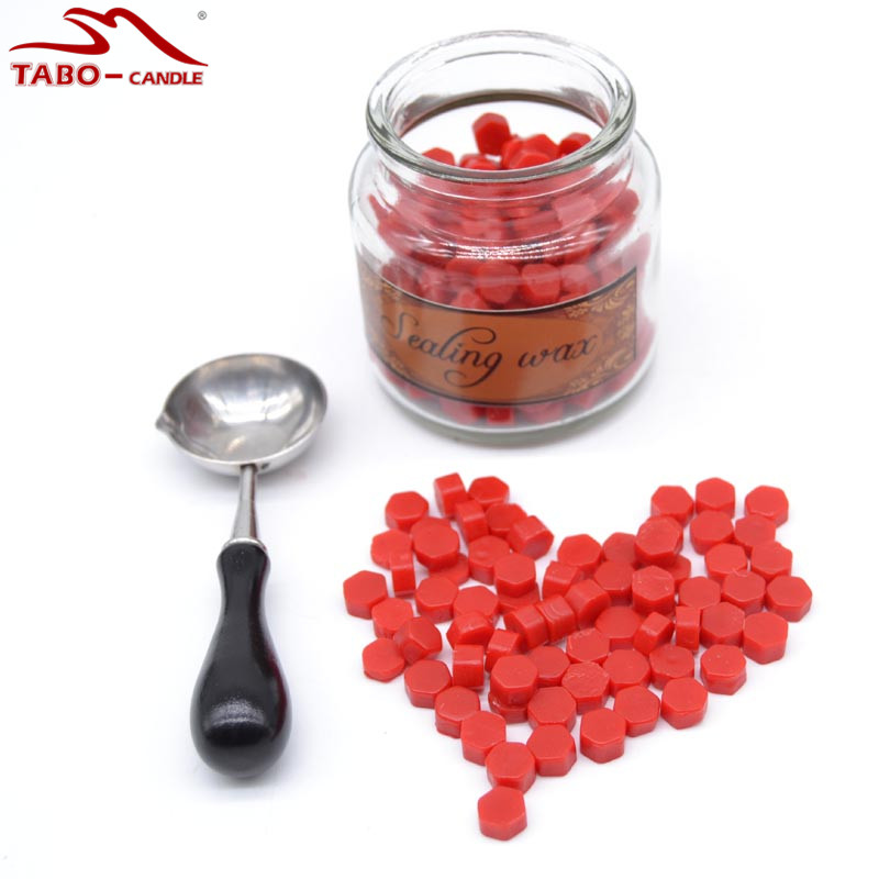 Glass Bottled Packing Colorful Sealing Wax Beads Multi Color Sealing Wax Granules for Gift Packing