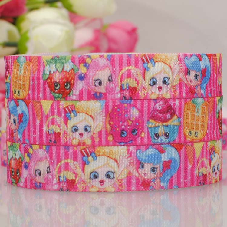 free shipping 50 yards cute cartoon printed lovely foe ribbon hair accessaries party decoration wholesale OEM