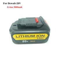 New 20V 3000mah Li Ion Replacement Power Tool Battery For Dewalt DCB182,DCB183 DCB200 DCB204