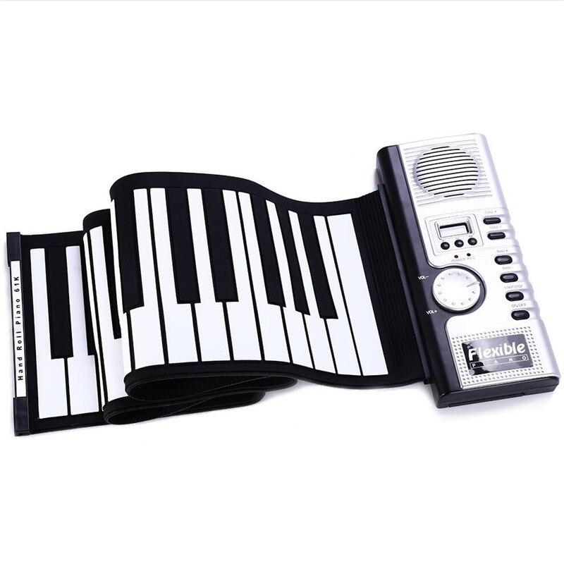 61 teclas de silicone midi teclado digital 03