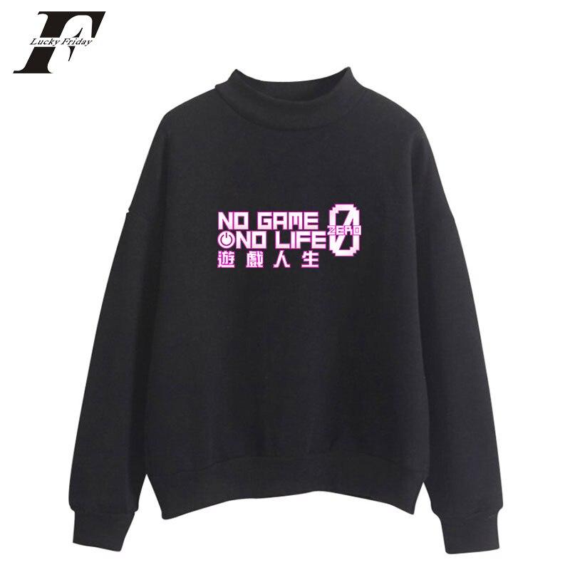 luckyfridayf NO GAME NO LIFE plus size oversized hoodie sweatshirt women moletom feminino pullove jacket coat hoodies women