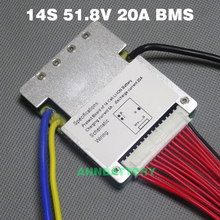 51.8ボルトリチウムイオン電池保護回路14 s 51.8ボルト20a bmsではバランス機能送料バランスケーブル