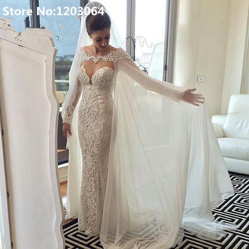Popular wedding dress capes buy cheap wedding dress capes for Wedding dress with a cape