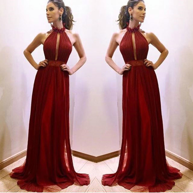 Maroon Long Prom Dresses