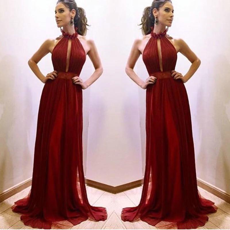 16w sexy halter dress