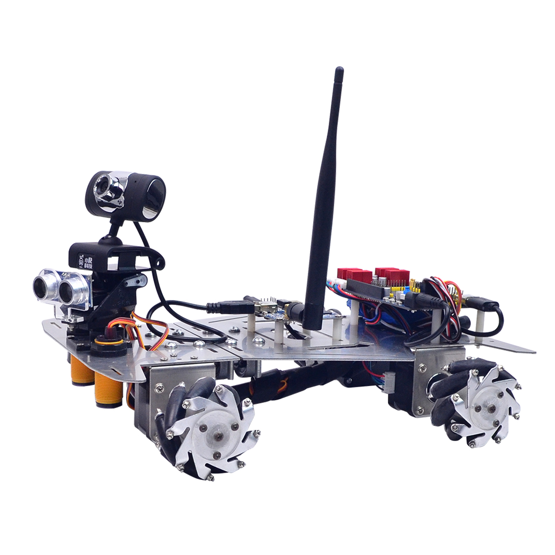 New Creative XR Master Omni-directional Mecanum Wheel Programmable Robot Electronic Toy For Kids Gift - WIFI + Bluetooth Version(China)