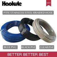 Haokule 3AN/AN3 PTFE тефлон оплеткой из нержавеющей стали с черный/прозрачный/синий ПВХ покрытие