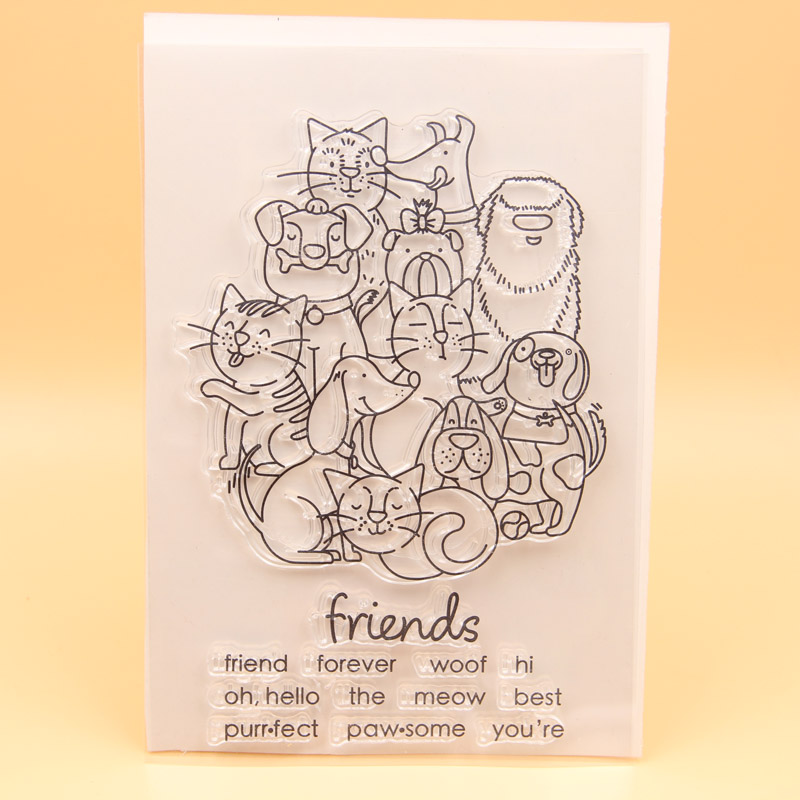 KLJUYP Friends Forever Transparent Clear Silicone Stamp/Seal for DIY scrapbooking/photo album Decorative clear stamp sheets friends forever