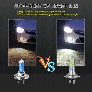 Image 5 - 2 pçs h7 lâmpada led super brilhante 12 3535smd luzes de nevoeiro do carro 12v 24v 6000k branco dia condução running lâmpada led auto h7 lâmpada