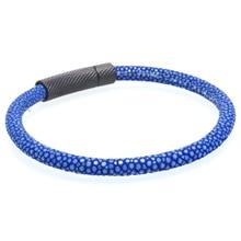 Magic Fish Stingray 6mm leather bracelets&bangles Men Stainless Steel black buckle Drop shipping Charms male jewelry bileklik цена 2017