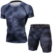 3D Snake Tracksuit Men Compression Suits, Tight Set Men Gyms Clothing, Quick Dry Men's Sportswear