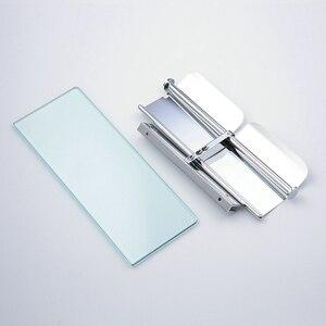 Image 4 - Beelee rulo kağıt havlu tutucu Çift Katı Pirinç Cam Banyo tuvalet kağıdı Tutucu Rulo Kağıt Için Banyo Aksesuarları