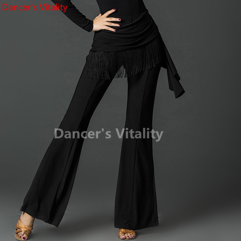 Picture of 2017 New Sexy Latin Dance Pants Black Colors Square Dancing Ballroom Cha Cha Dance Dress Women Modern Dance Pants
