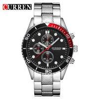 2015 Hot Sale Casual BRAND CURREN Japan Double Quartz Watch Men Sports Watches Military Wrist Watch
