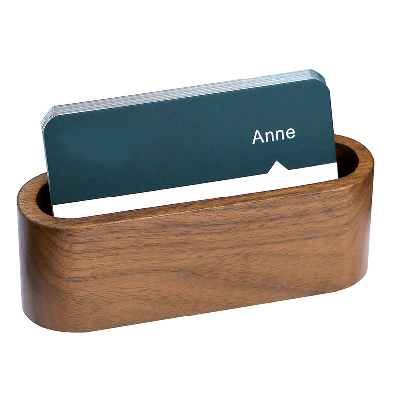 Wooden Business Name Card Holder Business Card Case Holder for Desk
