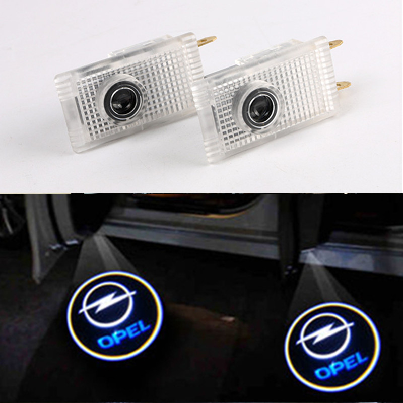 2X Car LED Door Welcome Logo Laser Projector Ghost Shadow Light For Opel Insignia led car door projector logo lamp emblem laser shadow welcome light for opel insignia the lighting in the door auto accessories