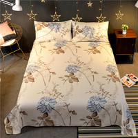Polyester Cotton Printing Bed Sheets 1PC Flat Bed Sheet King Queen Bedsheet  For Single Double Bed|Sheet|   -