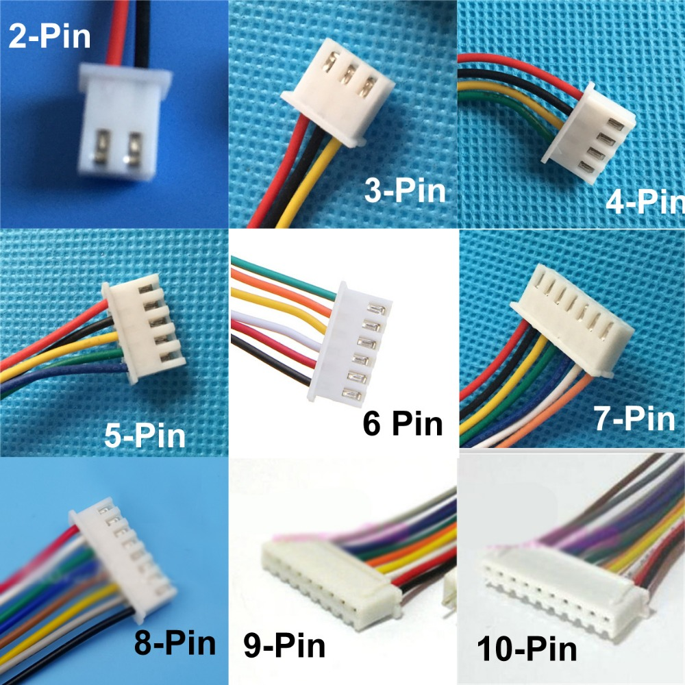 100set JST 1.25 2/3/4/5/6 pin Female Plug and Male connector with ...