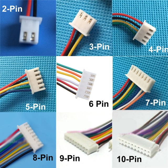 10pcs Micro Mini XH 2.54mm Female & Male Plug with Cable XH 6P 2P 3P ...
