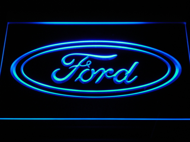 d007 Ford Car LED Neon Signs with On/ Off Switch 7 colors sent in 24 hrs