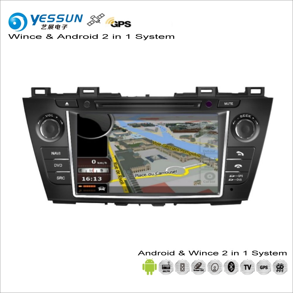 YESSUN For Mazda 5 / Premacy / For Nissan Lafesta Highway Star Car Radio CD DVD Player GPS Navigation Android 2 in 1 S160 System