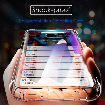 Anti Knock Shock Proof Trasparent Silicon Case for Samsung Galaxy S8 S8 Plus S9+ S9 Plus Clear Phone 360 Protective Cover screenshot
