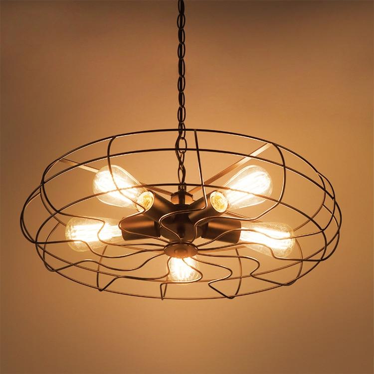 Vintage Loft Pendant Lamp E27 Edison Bulbs Iron Black Industrial Fan Pendant Light Retro Style For Restaurant Cafe Bar наземный низкий светильник brilliant artu 46984 86