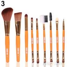 9Pcs Blush Lip Makeup Eyebrow Eyeliner Brush Set Cosmetic Tool Beauty Brushes 2SSW