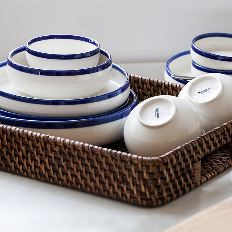 Craetive Decorative Europe Style Brief Hand-Painted ceramic bowls porcelain tableware Sizes rice bowls fruit salad soup bowl