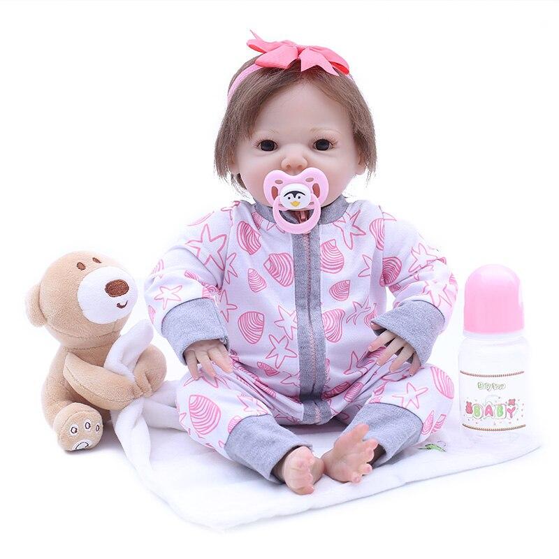 43cm Silicone Reborn bébé poupées Bebe vivant réaliste Boneca Bebe réaliste réel bébé poupée bebe bonecas Reborn anniversaire noel