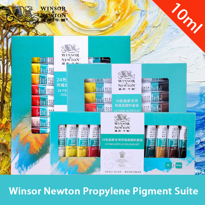 Acrylic Paint Set 12/18/24 Color 10ml Wall Painting Hand-painted Textile Pigment Diy Painted Pigment Art Supplies