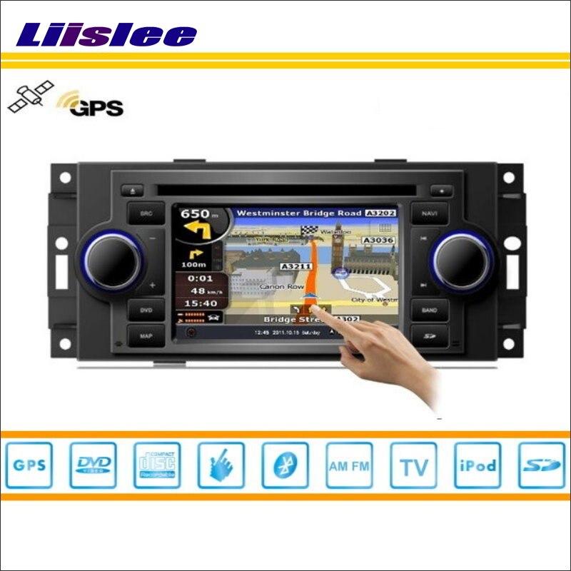 Liislee Android Carro Para Jeep Grand Cherokee/Compass/comandante Rádio DVD Player GPS de Navegação Nav Estéreo De Áudio e Vídeo sistema
