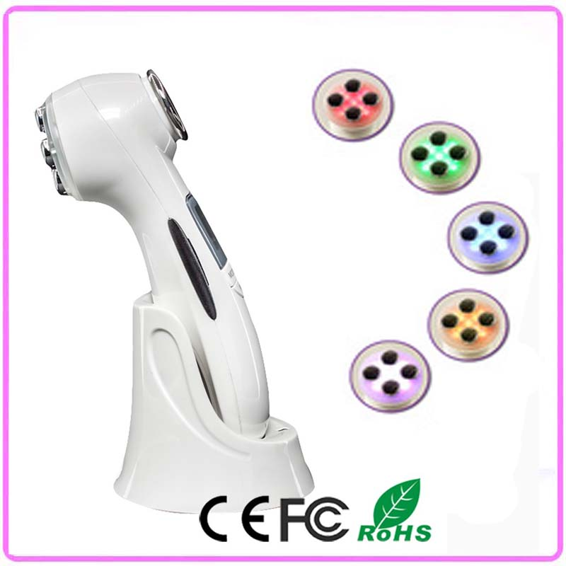 2016 Newest Portable Photon EMS RF Radio Frequency Facial Beauty Machine For Home Use Skin Rejuvenation Lifting Tightening kingdom kd 9900 ems rf electroporation beauty device