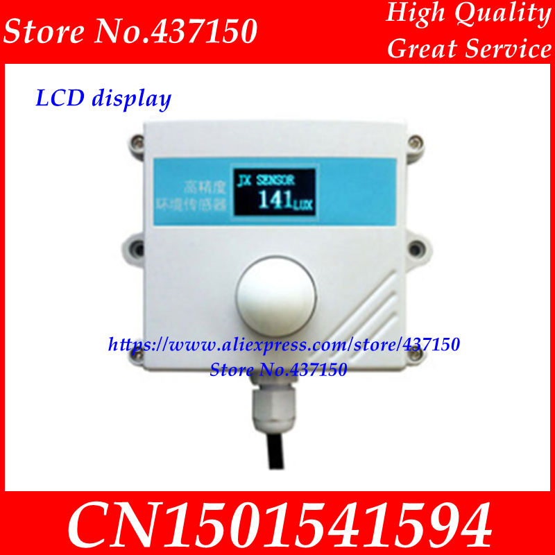Image 4 - Light sensor 0 10V 0 5V 4 20mA RS485 200000Lux 65535Lux industrial  intensity illumination acquisition transmitter LCD display-in Sensors from Electronic Components & Supplies