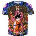 Das Mulheres Dos Homens Clássico quente t Anime Dragon Ball Z Super Saiyan tees kid goku batalha 3d t camisa masculina galaxy tops frete grátis