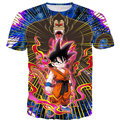 Hot Men Women Classic Anime t shirts Dragon Ball Z Super Saiyan Tees Battle Kid Goku 3D t shirt Male Galaxy Tops free shipping