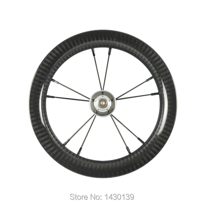 1Pcs New 12 inch 25mm Slide car Push bike Scooter twill 3K full carbon fibre bicycle wheels carbon clincher rims 12er Free ship1Pcs New 12 inch 25mm Slide car Push bike Scooter twill 3K full carbon fibre bicycle wheels carbon clincher rims 12er Free ship
