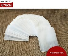 Фотография 100Pcs/Lot Teabags 6 x 8CM Empty Scented Tea Bags With String Heal Seal Filter Paper for Herb Loose Tea