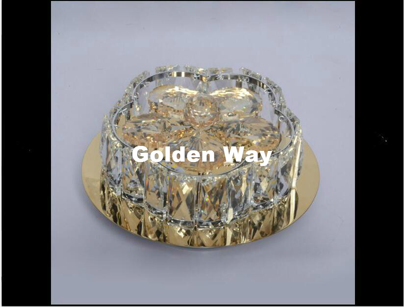 Modern Clear D20cm AC LED 9W Crystal Ceiling Lamp living Room Lamp LED Ceiling Bedroom Restaurant Corridor lighting AC110-240V europe type restoring ancient ways is the copper single head ceiling lamp restaurant corridor corridor led to ceiling lamp