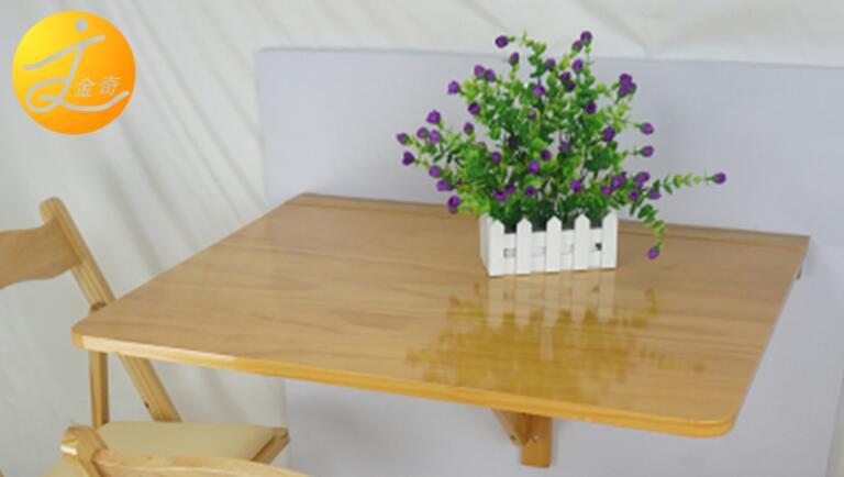 € 127.54 6% de DESCUENTO|75*60 CM montaje de pared Mesa colgante de madera  mesa de comedor plegable Escritorio de estudio para niños Escritorio de ...