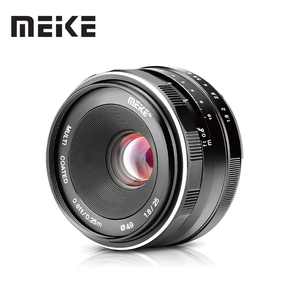 Meike 25mm F1 8 APS C Wide Angle Manual Lens to All Single Series for Canon