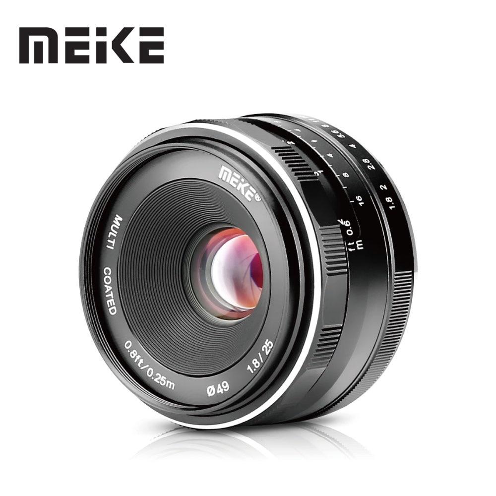 Objectif manuel grand Angle Meike 25mm F1.8 APS-C à toutes les séries simples pour Canon EF-M/pour Nikon 1 appareils photo M1 M2 M3 M5 M50 M100 V1 J5