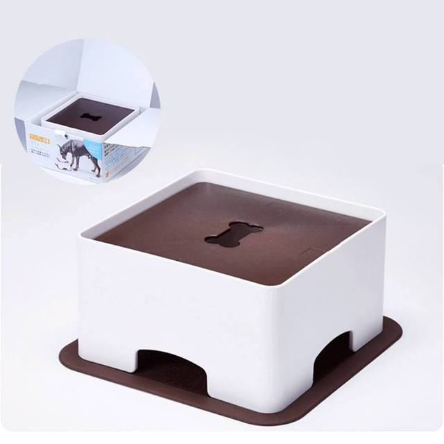 2018 New Pet Dogs &Cats Table Dish Rack Height Adjustment According Dog Bowl Dog Height To Develop Good Eating Habits 1