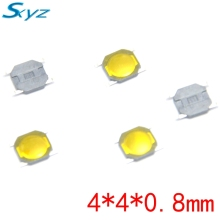 100pcs/lot 5.2*5.2*0.8mm 4 PIN SMT Metal Tactile Push Button Switch Tact Switch Great Quality