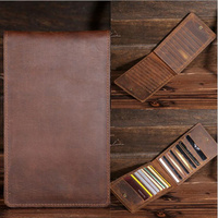 Crazy Horse Genuine Leather Vintage Business ID Credit Card Wallet Case Slot Organizer Men's Card Holder Purse Slim B2077 15%