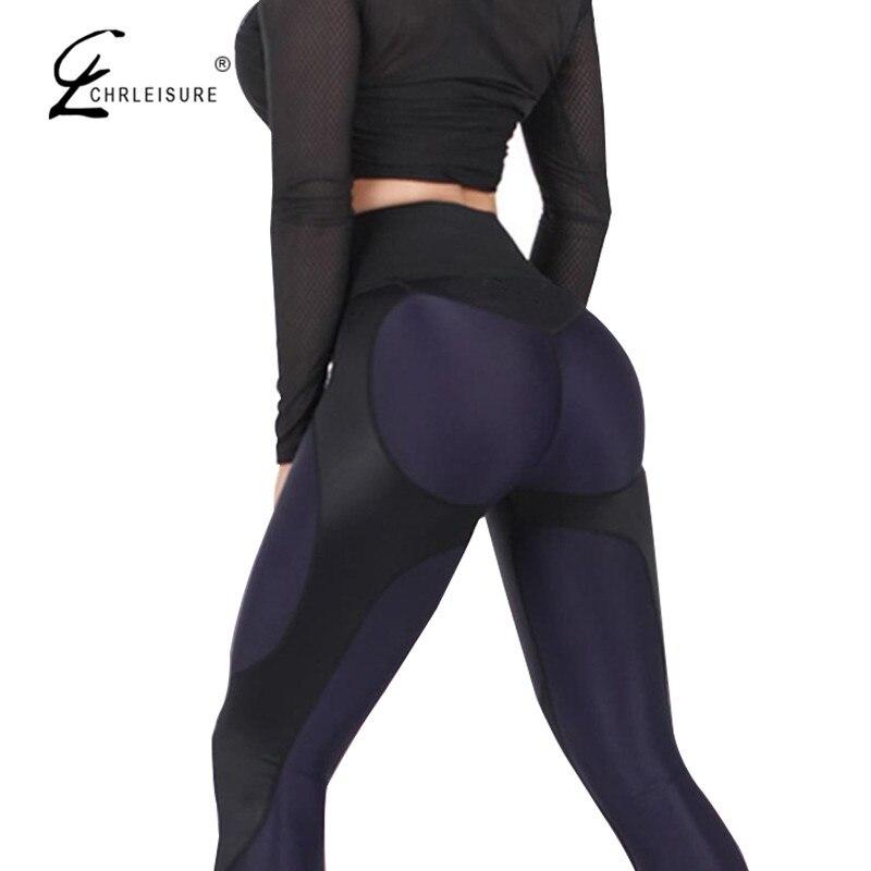 CHRLEISURE Women High Waist Leggings Women Fitness Leggings For Push Up Activewear Workout Legging Pants Streetwear S-XL